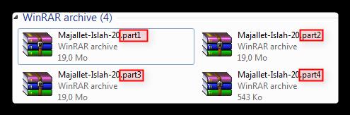 شرح طريقة تجزئة الملفّات الكبيرة الحجم بالـ Winrar لرفعها على المرفقات Attachment