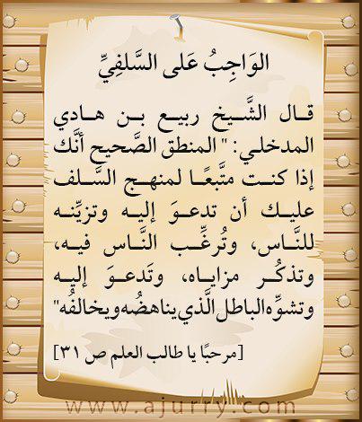 فوائد ودرر- الشيخ ربيع