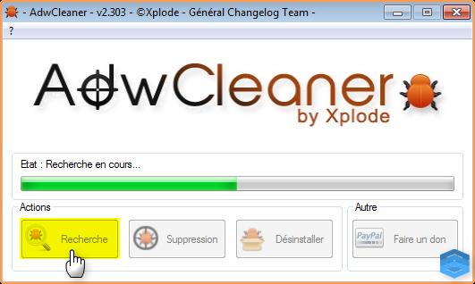 أداة AdwCleaner  لإزالة البرامج الإشهارية وأشرطة الأدوات المزعجة Attachment